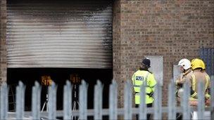 Scene of the explosion in Boston