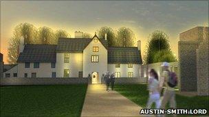 Artist's impression of Llanyrafon Manor rural heritage centre