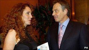 Tony Blair with Rebekah Brooks in 2004