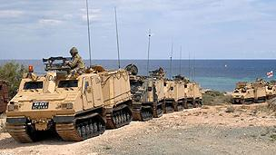 UK forces participating in land exercises