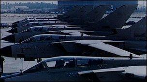 Tornado warplanes