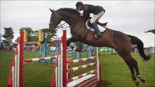 show jumping at Great Eccleston Agricultural Show