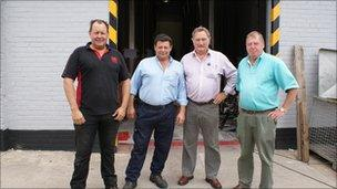 Mark Roberts and Vaughan Roberts (owners), John Bowler (engineer and designer) and Ian Dale (head brewer)
