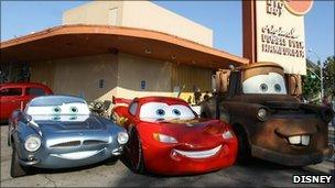 Scene from Cars 2
