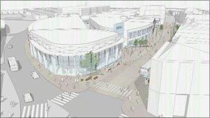 Artist's impression of revamped Eastbourne Arndale Centre