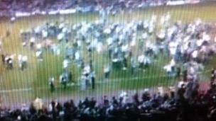 Pitch invasion at Darlington v Newcastle match