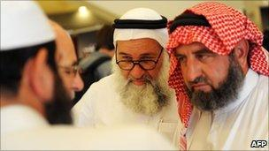 Unidentified Syrian opposition figures in Istanbul, Turkey (16 July 2011)