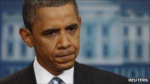 US President Barack Obama in Washington DC (15 July 2011)