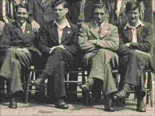 Class of 1945 shows Harold Jones (far right)
