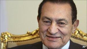 Hosni Mubarak in Cairo, 19 October