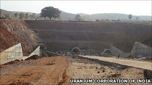 Uranium mine at Tummalapale