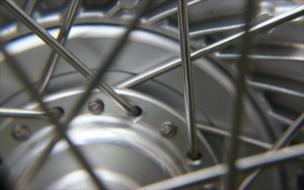 A part of a bicycle wheel