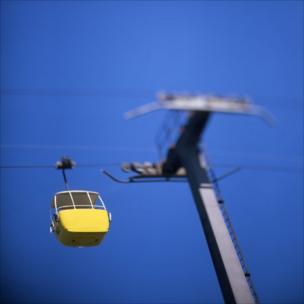 A cable car, Great Orme, Llandudno.