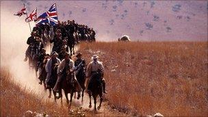 Scene from Cecil Rhodes BBC documentary