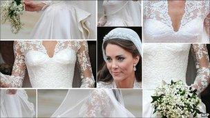 Images Showing The Duchess Of Cambridges Wedding Dress As Stepped Out Westminster Abbey