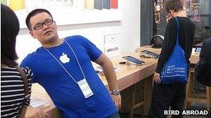Staff in fake Apple store