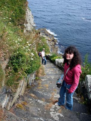 Beth, Paul and Ian on the Whaligoe Steps