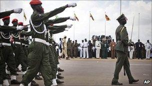 South Sudan's army on Independence Day in Juba, 9 July 2011