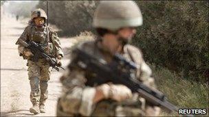 British soldiers in Afghanistan