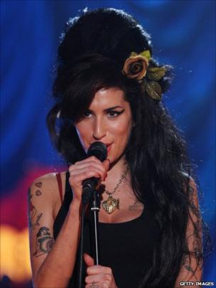 Amy Winehouse at the Grammy Awards 2008