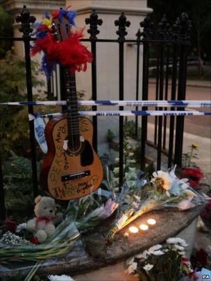 Tributes laid outside Amy's House
