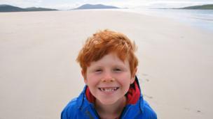 Jamie on Luskentyre beach