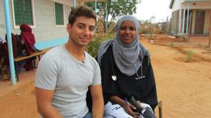 Ricky and one of the local doctors in Dadaab