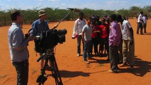 Filming in Dadaab