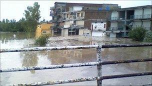 Flood affected Nowshera in 2010. Photo: Ahsan Tajik