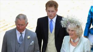 Prince Charles, Prince Harry and Camilla