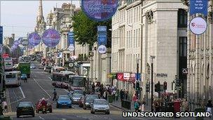 Crime Levels Dropping In Aberdeen City Centre Bbc News