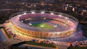 Computer generated image of stadium