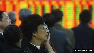 Worried investors in China