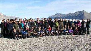 The Svalbard expedition group on 2 August