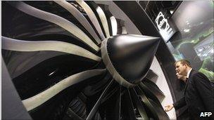 A jet engine
