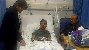 Mohd Asyraf Haziq in the Royal London hospital, Whitechapel