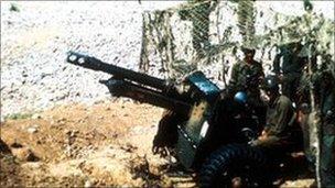 Indian gun battery in 1965