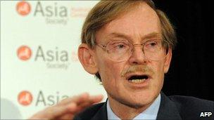 Robert Zoellick at the Asia Society's annual dinner in Sydney