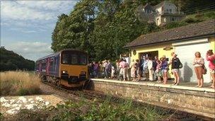 Train at rural station