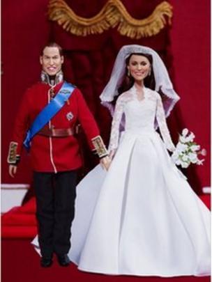 Princess Kate Wedding Dress.William And Kate Wedding Dolls Show Off Mini Dress Bbc News