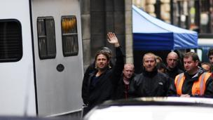 Brad Pitt in George Square, Glasgow