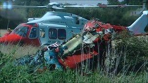The wreckage of the Red Arrow