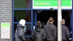 Queue outside Job Centre