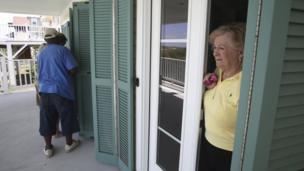 People in North Carolina prepare their home for Hurricane Irene.