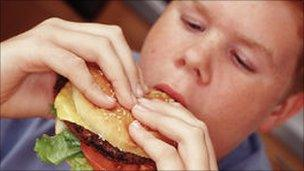 Person eating a burger