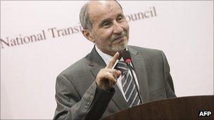 Libyan National Transitional Council chairman Mustafa Abdel Jalil