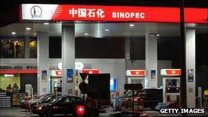 Sinopec petrol station