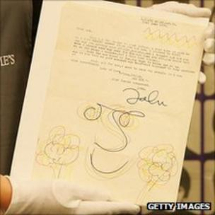 john lennon letter held by christies employee