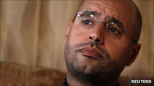 Saif al-Islam Gaddafi in Tripoli, 21 August 2011