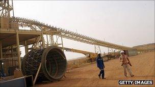 Construction site at an Australian mine